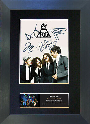 FALL OUT BOYS Signed Mounted Autograph Photo Prints A4 474