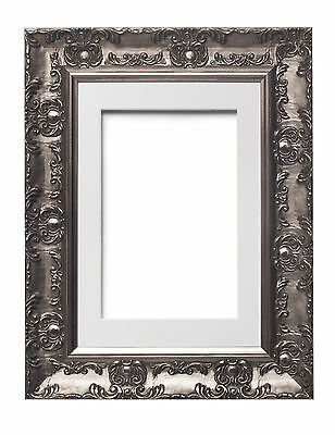 Wide Ornate MUSE  Picture Frame Photo Frame Poster Frame with Mount Distressed W