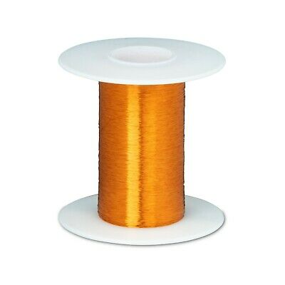 "42 AWG Gauge Heavy Formvar Copper Magnet Wire 2oz 6200' 0.0029"" 105C Amber"