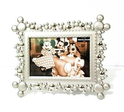 Disney Parks Mickey Head Icons Silver 4X6 Photo Picture Frame