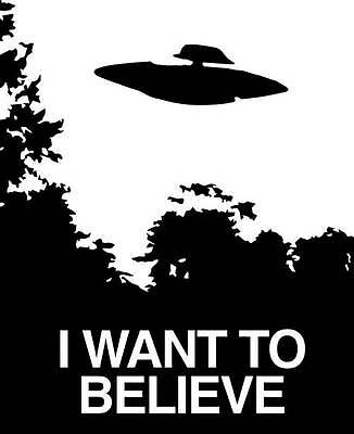 I Want to Believe vinyl decal sticker X-Files Sci-Fi Scully