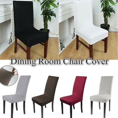 Stretchable Removable Slipcover Dining Chair Seat Cover Spandex Lycra 2/4/6/8Pcs