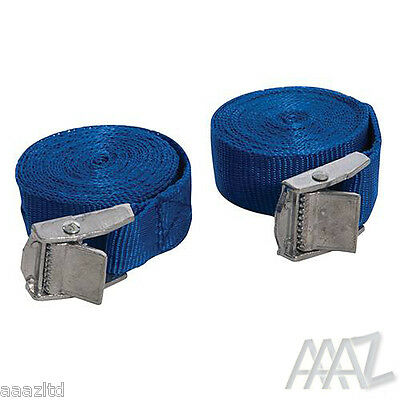 Silverline Set Of 2 Buckled Straps Tie Down Lashing Cam Buckle 2.5mm x 25mm