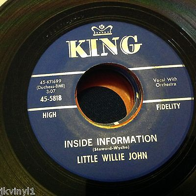 Little Willie John-Inside Information/so Lovely-King 5818. Vg++