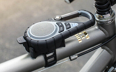 Ion Audio Clipster Active Bluetooth Clip-On Outdoor Speaker w/ Mounting Bracket