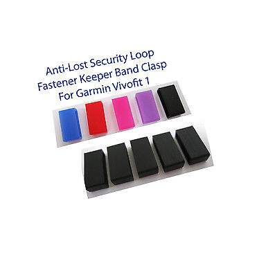Anti-Lost Security Loop Fastener Keeper Band Clasp Garmin Vivofit 1 silicon