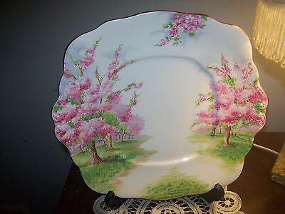 Royal Albert Blossom Time Tab Handled Cake Plate - Made in England First Quality