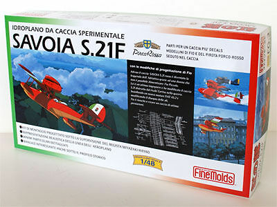 Fine Molds FG3 SAVOIA S.21F Seaplane PORCO ROSSO 1:48 scale kit