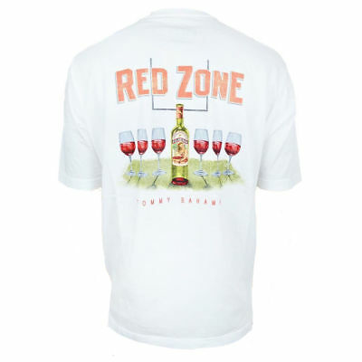 TOMMY BAHAMA Men's T-Shirt - 2ND QUALITY - Football - Red Wine Glass Bottle