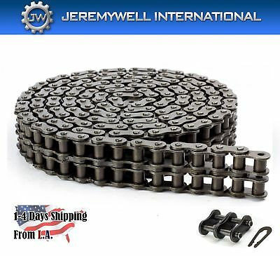 #100-2 Double Strand Duplex Roller Chain 10 Feet with 1 Connecting Link
