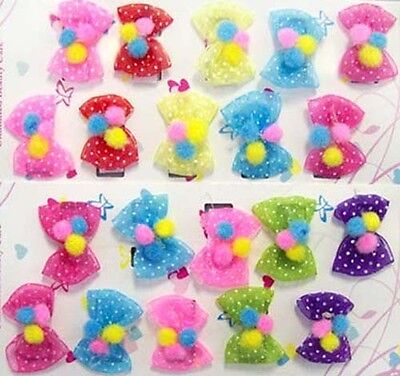 Hair Accessories - Embellished Hair Bows For Babies  10 Pairs Lot   (HASB7  ^)
