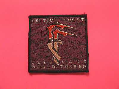 """Celtic Frost Vintage Woven Patch  Uk Import Sew-On   """"tour 89"""""""