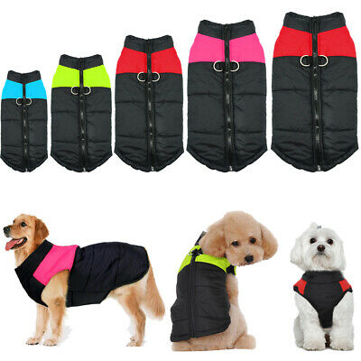 Winter Warm Padded Dog Clothes Waterproof Pet Coats Vest Jacket for Dogs 10 Size