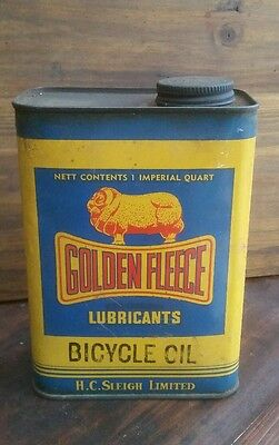 Collectable old vintage Golden Fleece Tin one Imperial quart great condition