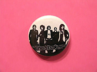 Vintage The Strokes Button Pin Badge Uk Import