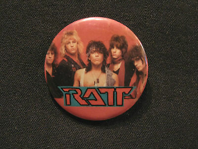 "Ratt Vintage 13/4"" Badge Button Pin"