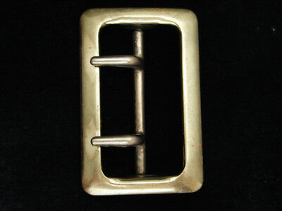 PG25130 VINTAGE 1970s **DOUBLE HOOK OLD FASHIONED STYLE** SOLID BRASS BUCKLE