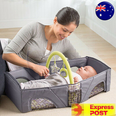 Summer Fold and Go Baby Infant Portable Travel Bassinet Cot Bed