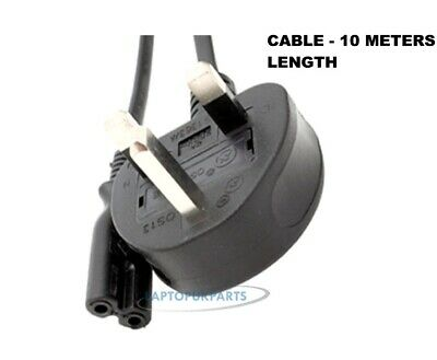 Brand New C7 Figure 8 Mains Cable Plug Power Lead 2 Pin Uk Shape 10M