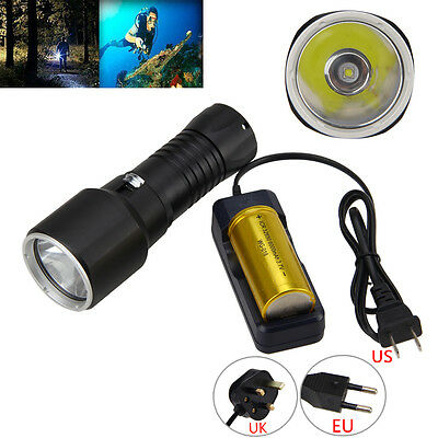 Scuba Diving 6000LM CREE XM-L2 LED 100M Waterproof 32650 LED Flashlight Torch