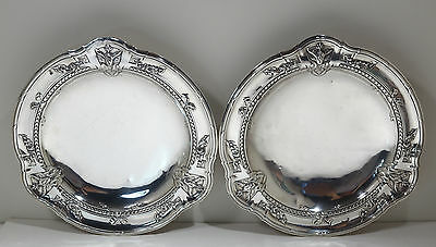 French Pair of Sterling Silver Footed Salvers by Louis Coignet Circa 1890s