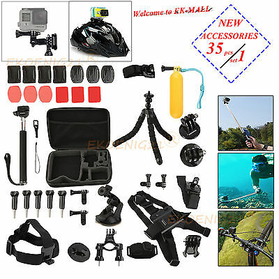 New Sport DVR Camera Accessories 35/64 in 1 set For Action Need For Gopro Kit EK