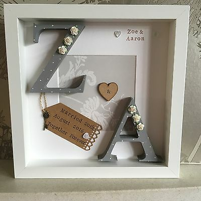 💎Personalised Wedding, Engagement, Anniversary Framed Gift/Keepsake