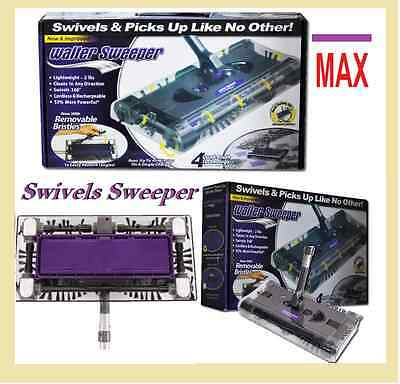 New Walter Sweeper Max Latest Cordless Swivel Sweeper G6 Quad Brush *