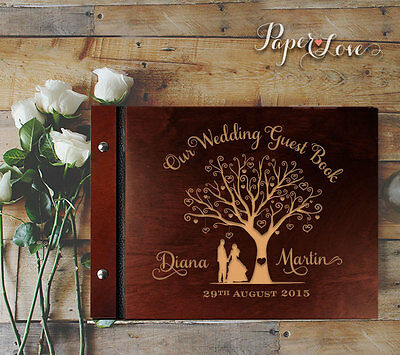 Unique Guest Book Tree Wood Guestbook Custom Wedding Gift Rustic Wedding Tree