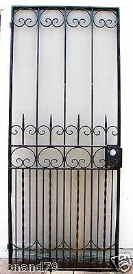 "88"" x 36"" Outswing Iron Security Door / Garden Gate Great Design"
