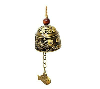 FengShui excellent beautifully carved Dragon fish bell decoration Wind chimes
