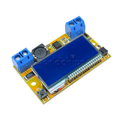 LCD Display Adjustable DC DC Double Display Step Down Pulse Power Supply Module