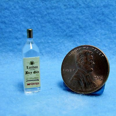 Dollhouse Miniature Bottle of London Dry Gin ~ HR53960