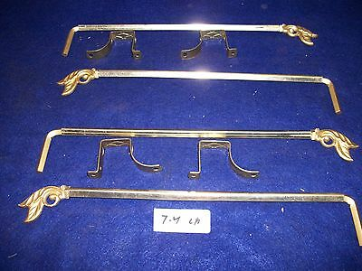 Lot Of Vintage-Old-Antique-Steel Swing A Way Drapery -Curtain Rods- 2 Pair-17-44