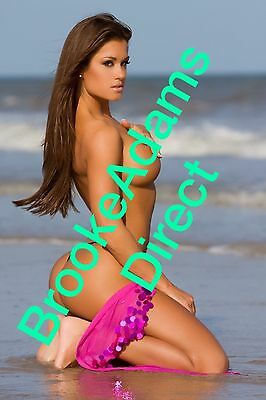 Brooke She's Naughty Signed Mini Poster WWE TNA KNOCKOUT