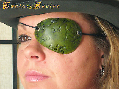 Steampunk Pirate Wasteland Biohazard Chimical Leather Eye Patch Cosplay