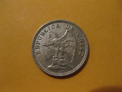 "1937 Chile coin 5 centavos  ""CONDOR""   nice xf  Beautie  80 year old coin"