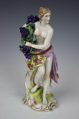 "Antique Ludwigsburg figurine ""Nude Woman with Grapes"" WorldWide"