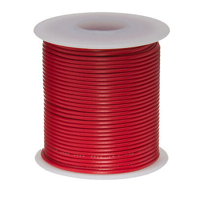 "18 AWG Gauge Solid Hook Up Wire Red 25 ft 0.0403"" UL1007 300 Volts"