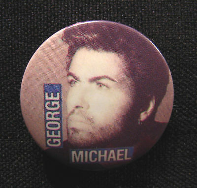 "George Michael  Vintage Badge 1"" Button Uk Import Wham"