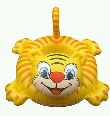 Tiger Shape Kids Baby Inflatable  Swimming Pool Raft Floating Seat Boat Ring