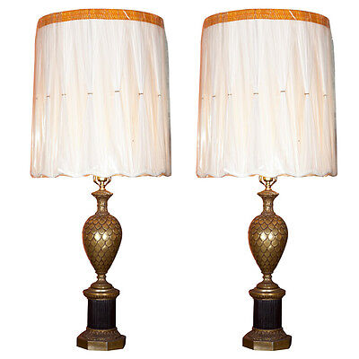 Pair of Bronze Pineapple Urn Form Table Lamps 101-2902
