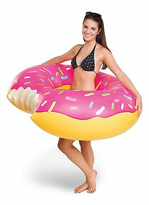 Big Mouth Toys Gigantic Donut Pool Float Strawberry