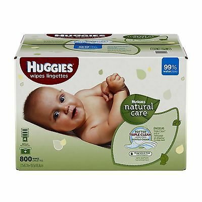 Huggies Natural Care Baby Wipes Refill 800 ct