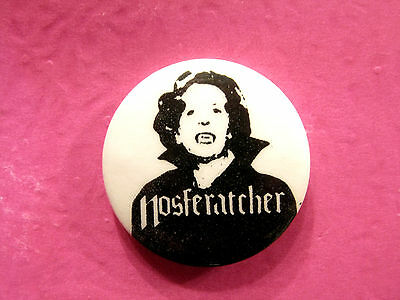 Vintage Maggie Thatcher Political Button Badge Pin Uk Import