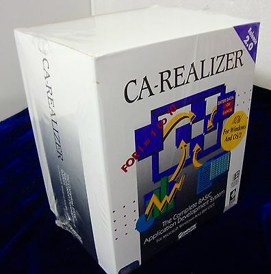 Very Rare Vintage Computer Associates CA-Realizer 2.0 Factory Sealed