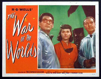 War Of The Worlds H.g. Wells Sci-Fi 1953 Lobby Card #7