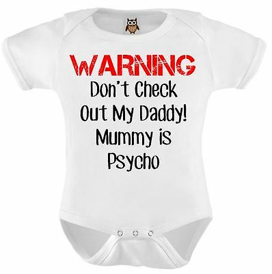 WARNING I Have A Crazy Aunt Funny Baby Grow Bodysuit Vest