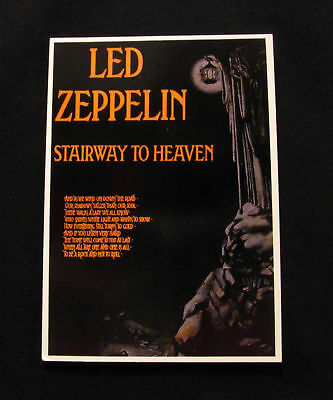 Vintage Led Zeppelin Postcard 'stairway To Haven'