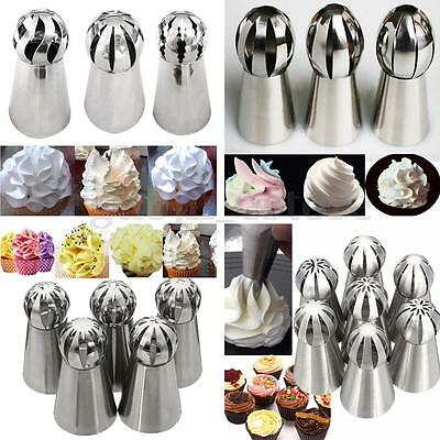Russian Flower Ball Cake Decorating Icing Piping Nozzles Pastry Tips Baking Tool
